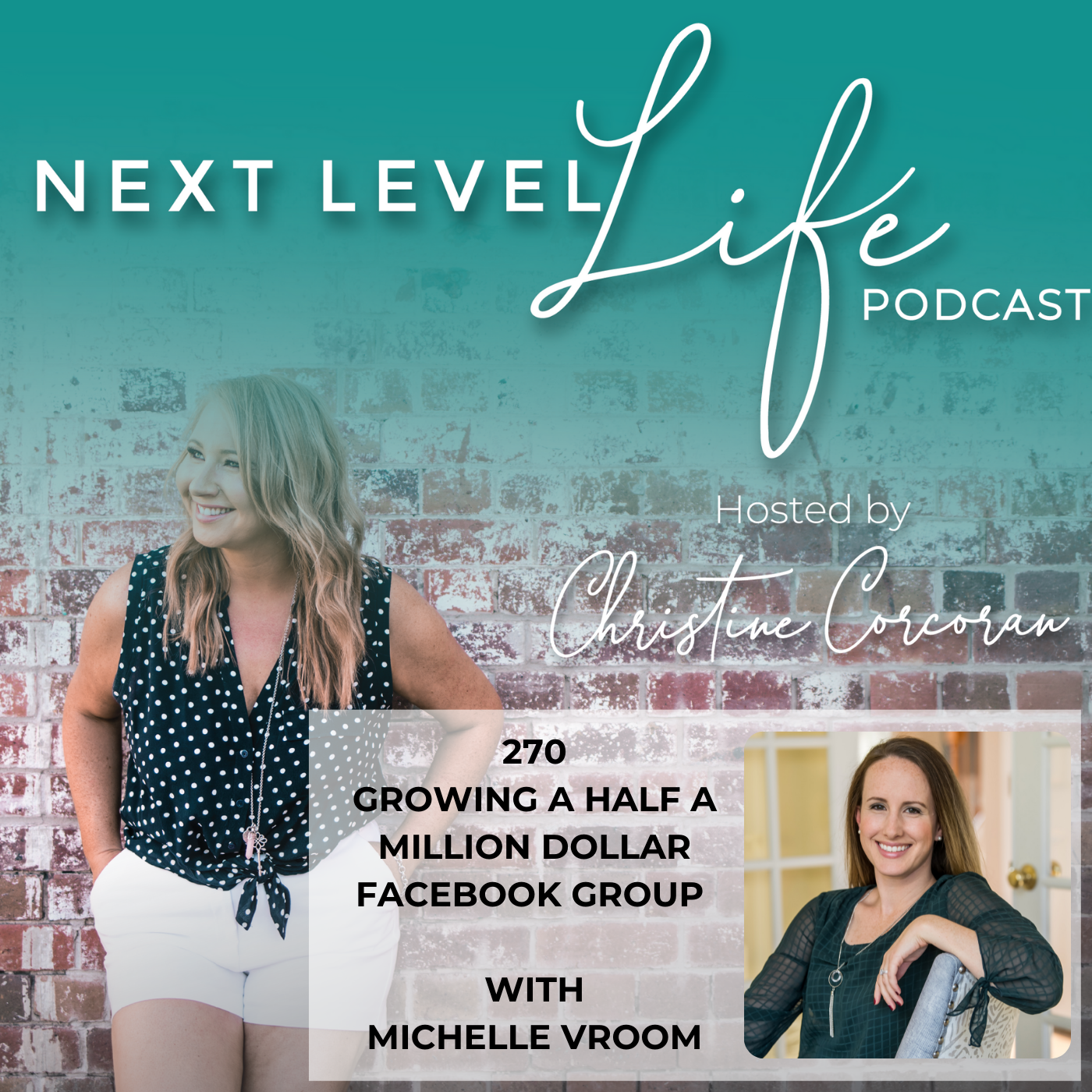 270 -Growing a half a million dollar Facebook group with Michelle Vroom- Director of Vroom Communications